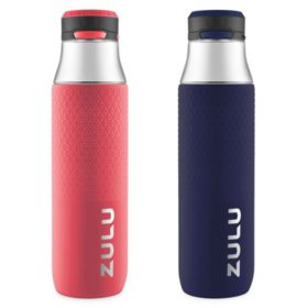 Zulu 32 oz. Studio Chug Tritan Water Bottles, 2 Pack (Assorted Colors)