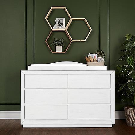 Evolur Maddox Double Dresser, Weathered White