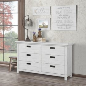 Evolur Waverly 6-Drawer Double Dresser (Choose Your Color)