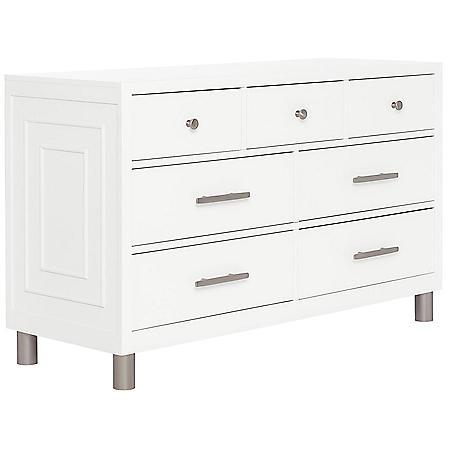 Evolur Loft Art Deco Double Dresser, White