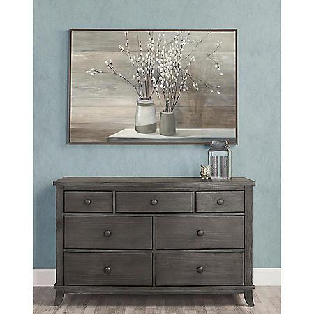 Evolur Signature Amsterdam Double Dresser, Smoky Brushed Gray