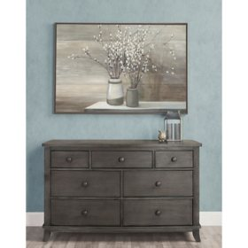 Evolur Signature Amsterdam Double Dresser, Smoky Brushed Gray