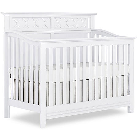 Sweetpea Baby Fairview 4-in1 Convertible Crib, White