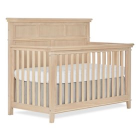 Sweetpea Baby Dover 4-in-1 Convertible Crib, Vintage White Oak