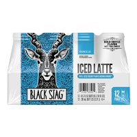 Black Stag Iced Latte, Vanilla Flavored, Ready to Drink (9.5 fl. oz., 12 pk.)