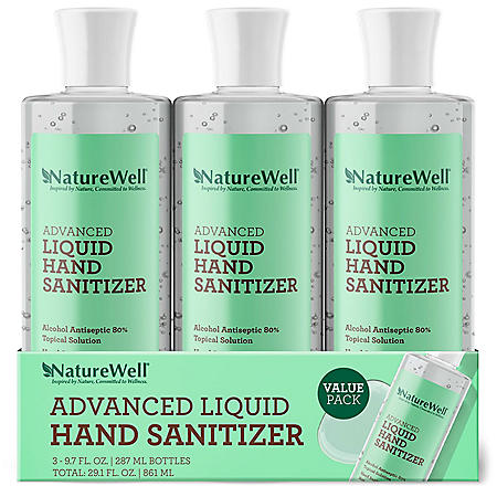 Naturewell Advanced Liquid Hand Sanitizer (9.7 fl., oz. 3 pk.)