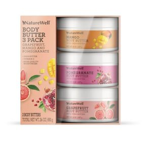 NatureWell® Body Butter, Grapefruit, Mango and Pomegranate Scents (3 pk.)