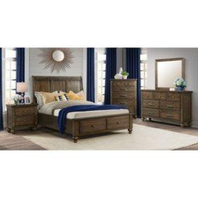 Channing 2-Drawer Platform Storage Bedroom Set