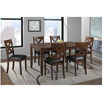 Society Den Alexa 7PC Standard Height Dining Set in Cherry
