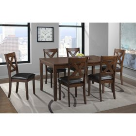 Alexa 7-Piece Dining Set (Choose Height & Color)