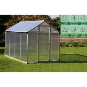 Aluminum Walk-in Greenhouse, 6' x 8'