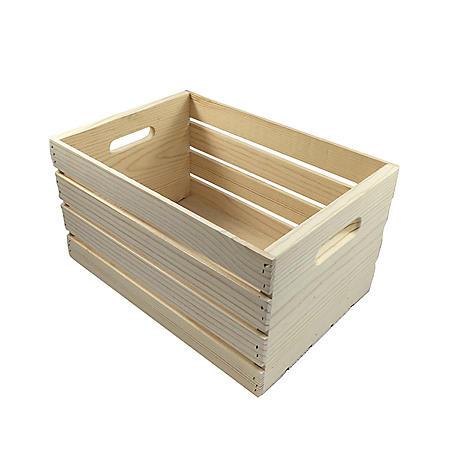 MPI Pine Wood Crate, Natural Finish