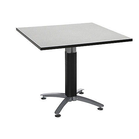 """OFM Core Collection 36"""" Multi-Purpose Square Table with Metal Mesh Base, in Gray Nebula (KMT36SQ-GRYNB)"""