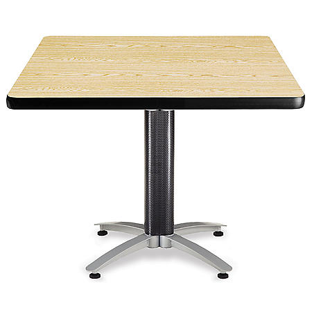 Square Multi-Purpose Table - Metal Base - Various Colors