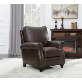 Member's Mark James Leather Press Back Recliner