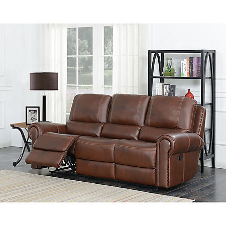 Member\'s Mark Harrison Dual Reclining Leather Sofa