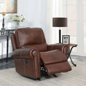 Members Mark Harrison Leather Rocker Recliner With Usb Charging Port