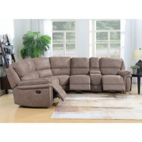 Super Langston Complete 3 Piece Reclining Sectional Sams Club Unemploymentrelief Wooden Chair Designs For Living Room Unemploymentrelieforg