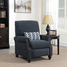 Conroe High Leg Recliner with Kidney Accent Pillow
