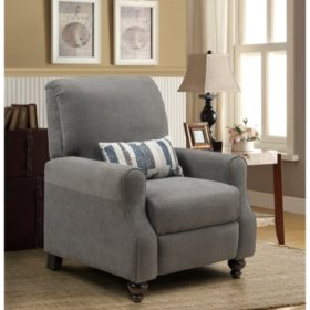 Morrisofa Shelby High Leg Kidney Accent Pillow Recliner