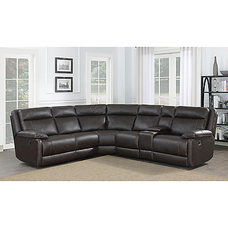 Preston 3-Piece Reclining Sectional (Power or Manual Options)