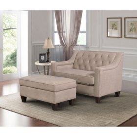 Ethan Chair and Storage Ottoman (Assorted Colors)