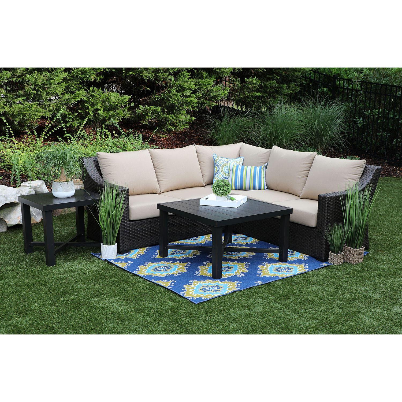 Birch 5-Piece Patio Sectional Sofa with Sunbrella Fabric