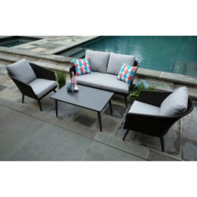 Willow 4-Piece Deep Seating Set with Sunbrella Fabric