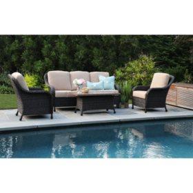 Sycamore 4-Piece Deep Seating Set with Sunbrella Fabric
