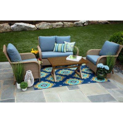 Tupelo 4-Piece Deep Seating Set with Sunbrella Fabric Outdoor Sets - Sam\u0027s Club
