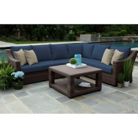 Alder 5-Piece Sectional with Sunbrella Fabric (Various Colors)