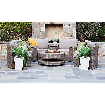 Cyprus 8-Piece Sectional Set with Sunbrella Fabric (Various Colors)