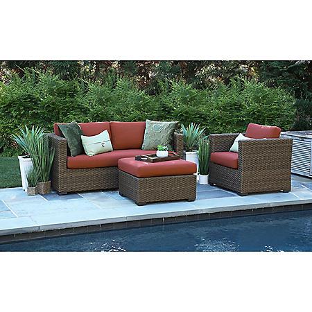 Redbay 3-Piece Deep Seating Set with Sunrella Fabric