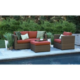 Redbay 3-Piece Deep Seating Set with Sunrella Fabric
