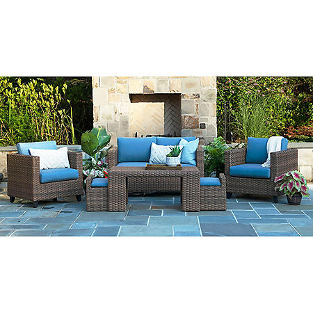 Pepperidge 6-Piece Deep Seating Set with Sunbrella Fabric