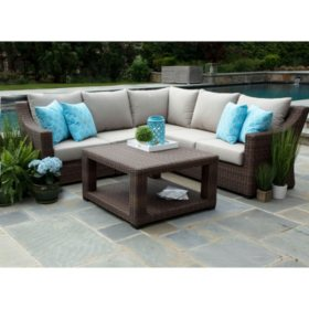 Monteray 4-Piece Sectional Set with Sunbrella Fabric