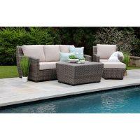 Linden 4-Piece Deep Seating Set with Sunbrella Fabric