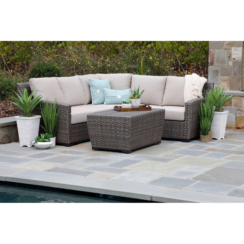 Linden 3-Piece Patio Sectional Sofa with Sunbrella Fabric