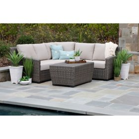 Linden 3-Piece Sectional with Sunbrella Fabric