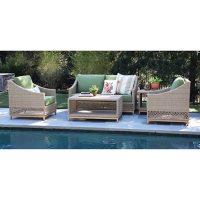 Prescott 5-Piece Deep Seating Set with Sunbrella Fabric - Cilantro