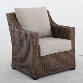 Alder Armchair with Cast Ash Sunbrella Fabric