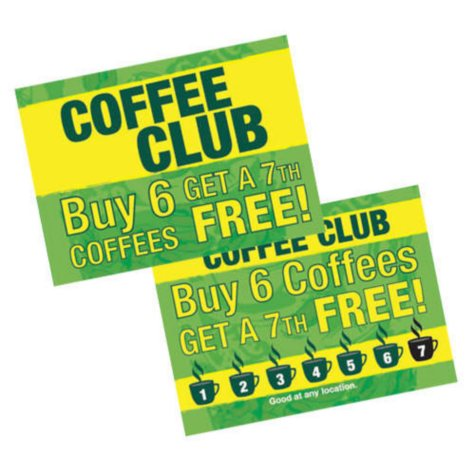 Loyalty Punch & Go Cards - 1,000 pk.