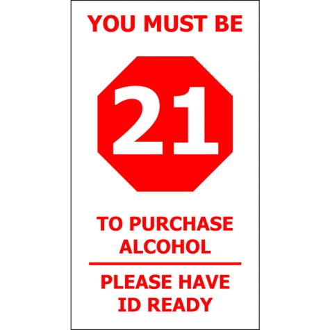 """T3 Must be 21/ Have ID Ready Decal, 4"""" x 7"""" (6 pk.)"""