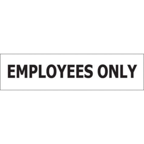 """T3 Employees Only Decal,  8"""" x 2""""  (6 pk.)"""