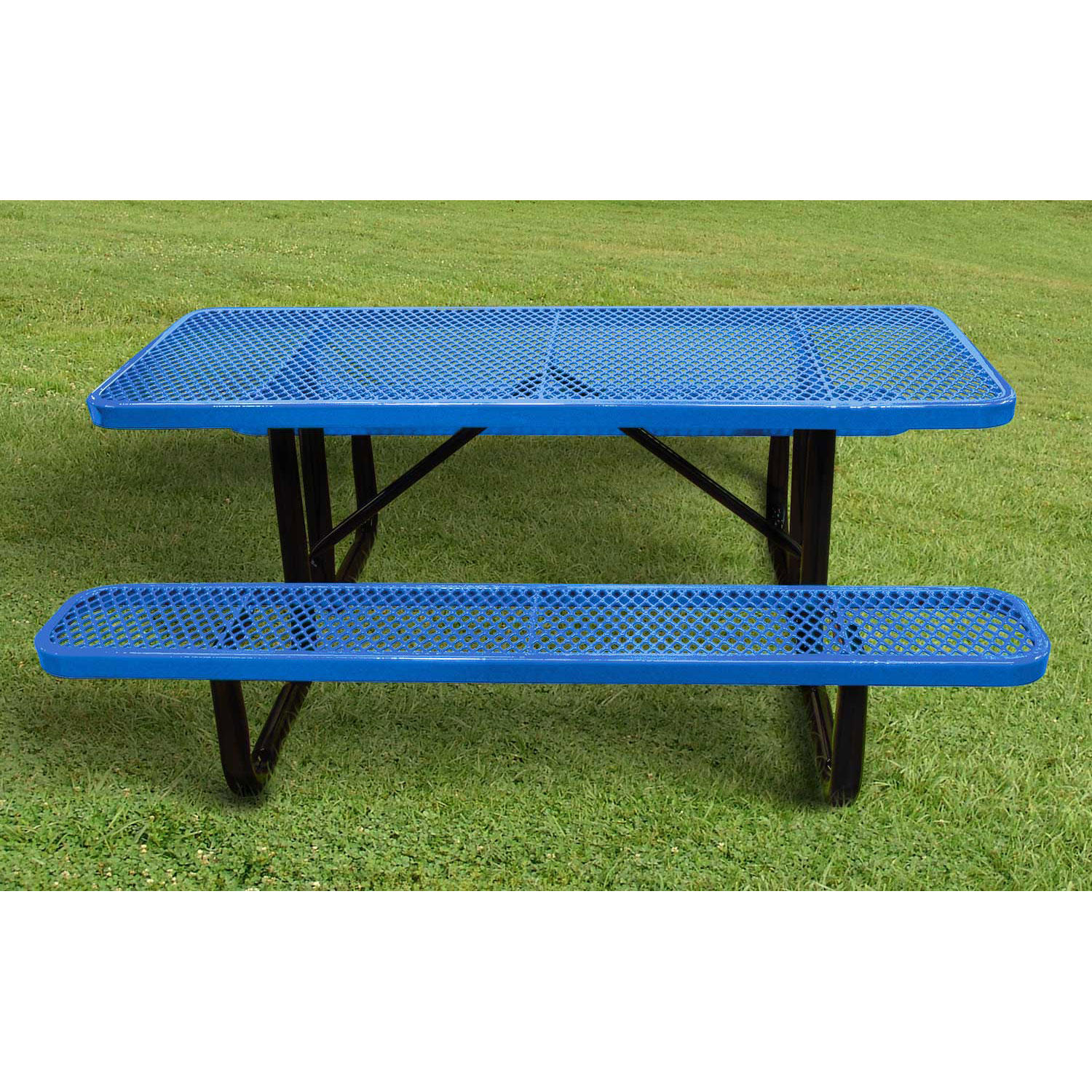 Leisure Craft 6' Rectangular Expanded Metal Picnic Table