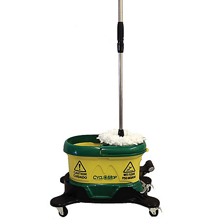 Bissell Commercial CycloMop CM500D-GRN Spin Mop with Dolly