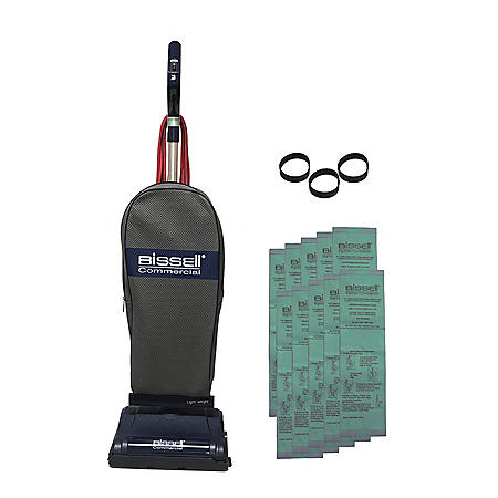Bissell Lightweight Upright Commercial Vacuum, BGU7100, with 10 Disposable Bags and 3 Belts