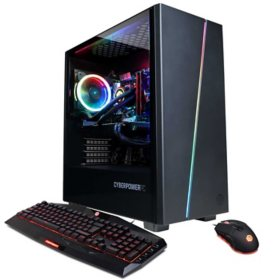 CyberPowerPC - Gamer Supreme Liquid Cool Gaming Desktop - 10th Gen Intel Core i7 - 16GB DDR4 - 1TB PCI-E NVMe SSD - NVIDIA GeForce RTX 2060 6GB - 7 Color RGB Gaming Keyboard & Mouse - Custom RGB Case Lighting - Windows 10 Home (64-bit)