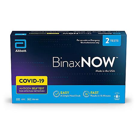 BinaxNOW COVID‐19 Antigen Self Test (2 ct.)