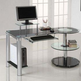Innovex Orbit Desk, Black/Chrome